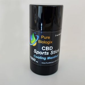 Pure Biologix Sport Stick 1000mg CBD, Balm – Cooling Menthol - Activated
