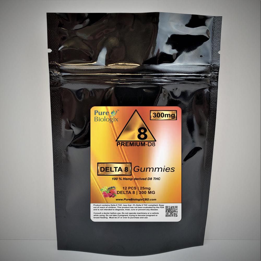 D8 THC 300mg 12pack Gummies